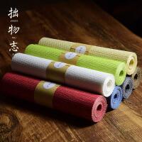 纸纤维茶布茶席 禅意中国风桌旗桌布 日式功夫茶盘垫 可定制