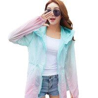 防晒衣女短款2017夏季新款超薄透气多色长袖连帽防紫外线外套开衫 中长款