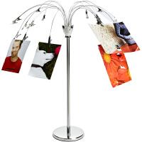 瀑布台式相片架创意相框相架摆台相片树欧式照片展示架礼物 铬色410
