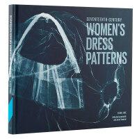包邮seventeenth-Century women's dress patterns,17世纪女连衣裙图案 欧洲古典