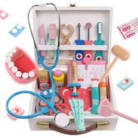 儿童医生玩具套装打针工具木制仿真医药箱女孩男宝宝过家家听诊器