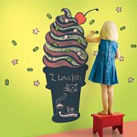 宜美贴 卡通可涂鸦黑板贴 儿童房卧室书房背景墙面冰淇淋装饰墙贴