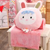 可爱少女睡觉抱枕公仔布娃娃玩偶三合一空调毯子毛绒玩具女生日礼物
