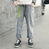 男童裤子春秋装牛仔裤男童装儿童长裤薄款