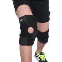 运动跑步护膝防滑吸汗户外登山篮球骑行男女健身护膝4弹簧护具 发左右各一只