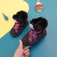 儿童雪地靴男女童加绒棉鞋保暖防水小童棉靴子防滑雪地棉