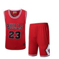 炫色公牛队23号乔丹球衣男篮球服套装透气吸汗训练服篮球服舒适排汗 X