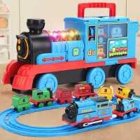 大号小火车轨道套装玩具电动儿童男孩汽车合金模型益智3岁6