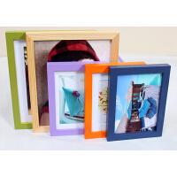 木质礼品相框 平板实木相框 照片墙 6寸摆式大红色