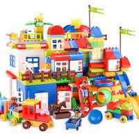 积木玩具拼装大颗粒男孩子儿童城市1-2-4女孩3-6周岁
