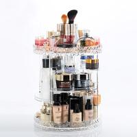 化妆品收纳盒透明旋转置物架亚克力桌面梳妆台护肤口红收纳整理盒