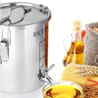 户外不锈钢油桶储藏密封桶菜籽油花生油食用油桶花生油桶 户外油桶 带龙头 80斤