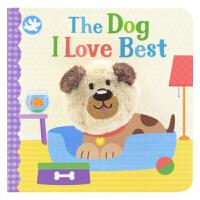 Little Learners The Dog I Love Best 喜欢的狗 经典童谣指偶玩具书 宝宝儿童英语启蒙