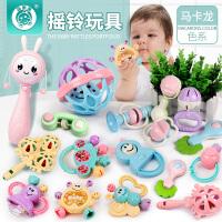 新生婴儿3-6月幼儿抓握牙胶玩具男女孩0-1岁宝宝手摇铃益智玩具12
