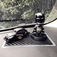 蝙蝠侠超人摇头公仔汽车摆件甲壳虫合金车内饰品车载摆件模型玩偶