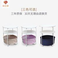 美达斯 创意简约 多功能圆形 客厅收纳茶几 可移动沙发小茶几