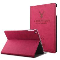 苹果iPad2 iPad3 iPad4保护套全包防摔防滑 超薄休眠平板皮套支架 欧美复古保护壳