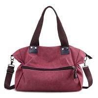 包包2018新款帆布包女包大容量女士单肩包斜挎包百搭手提大包潮流
