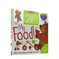 【首页抢券300-100】Wonderful Words My Food 妙妙单词书 我的食物 词汇启蒙 事物认知 场景