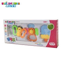 婴儿牙胶宝宝磨牙棒固齿器儿童摇铃安抚玩具3-6-12个月0-1岁 春天宝宝3件套
