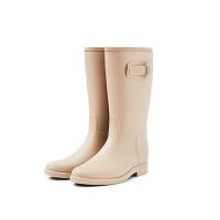 英伦雨鞋高筒春夏时尚雨靴女士长筒水鞋胶鞋雨鞋马丁水靴女鞋
