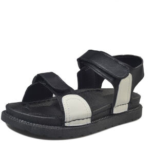 ELEISE美国艾蕾莎新品156-086韩版超纤皮平跟女士凉鞋