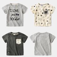 男童T恤短袖儿童纯棉体恤4童装夏装3岁宝宝半袖上衣打底