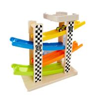 木制滑翔车四层轨道滑滑车云霄飞车轨迹车儿童惯性极速滑道车玩具