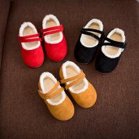 女宝棉鞋 1-2-3岁半女宝宝冬鞋子宝贝女童单鞋公主保暖童鞋韩版潮