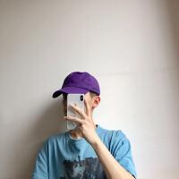 高雅紫色鸭舌帽男棒球帽女显脸小遮阳帽子 高雅紫 可调节