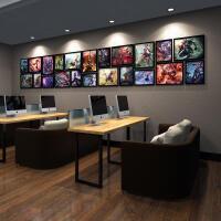 网咖 网吧装饰画 魔兽世界游戏海报 守望先锋壁画照片墙