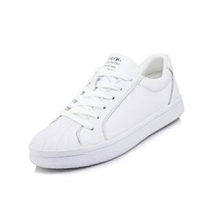 O'SHELL法国欧希尔新品065-9122-6休闲头层牛皮里外全皮真皮平底女士板鞋小白鞋