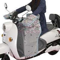 电动摩托车挡风被夏季防晒遮阳罩电车电瓶车挡风罩薄款分体天自行