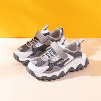 男童运动鞋男孩儿童时尚潮鞋老爹鞋中大童粉色女童鞋
