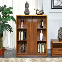 尚满客厅家具 中式古典边框实木柜间厅柜 客厅电视组合储物柜 多功能酒柜书柜餐边柜