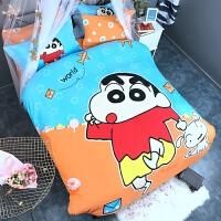 蜡笔小新樱桃小丸子全棉卡通三四件套被套儿童床单床上用品粉红豹