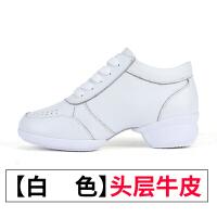 广场舞蹈鞋 女软底水兵跳舞鞋爵士 2017秋季新款真皮