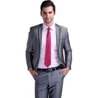 男式西服套装新郎结婚礼服套装银灰色商务正装西服男