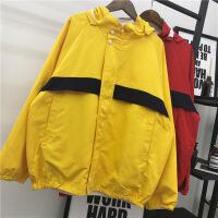 秋季双面外套女春装新款潮两面穿韩版学生原宿宽松连帽夹克