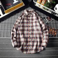 新款格子衬衫男宽松潮牌学生长袖休闲衬衣青少年男装外套寸衫