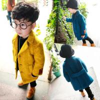 男宝男童大衣毛呢外套呢子韩版新款秋冬1-3岁7男宝宝冬装百搭
