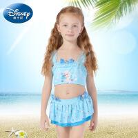 迪士尼女童泳衣冰雪奇缘儿童连体泳装小女孩防晒宝宝公主游泳衣夏