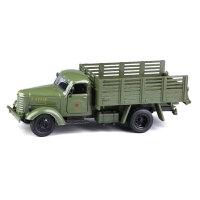东风老解放卡车怀旧1:36合金汽车模型声光回力玩具军事摆设