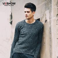 VIISHOW秋冬新款针织衫 欧美街头修身毛衣男 套头针织毛衣潮 Z122053