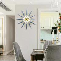 钟表挂钟客厅现代简约家用时钟北欧轻奢餐厅墙面装饰创意静音挂表 24英寸