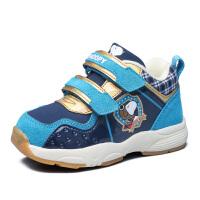 史努比童鞋冬季宝宝软底学步鞋男童鞋1-3岁儿童鞋加绒保暖机能鞋