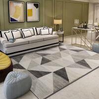 北欧地毯客厅沙发茶几垫现代简约卧室床边满铺个性长方形地垫定制