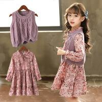女童连衣裙儿童装套装小女孩公主裙春款裙子