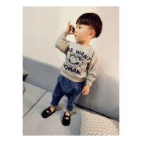 宝宝长袖卡通卫衣套头男童春款外套1234岁潮儿童韩版秋装小童上衣