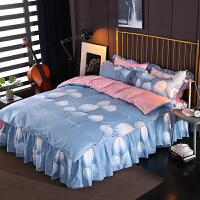 韩版法莱绒四件套加厚珊瑚绒冬季1.8m床上用品被套床单三件套